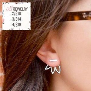 2/$10 Iris Minimalist Dainty Bar Peekaboo Earrings
